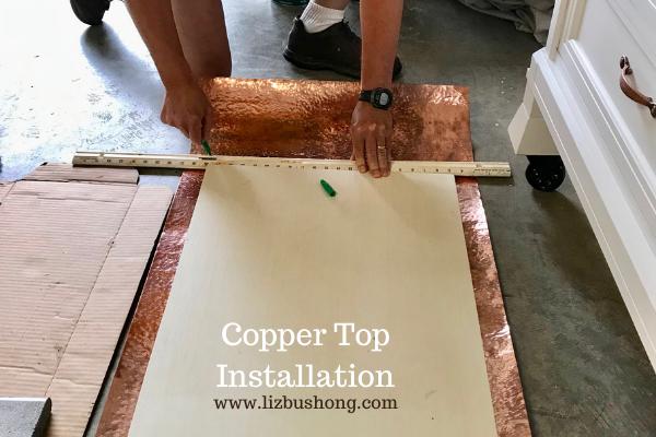 DIY How to make kitchen copper island lizbushong.com