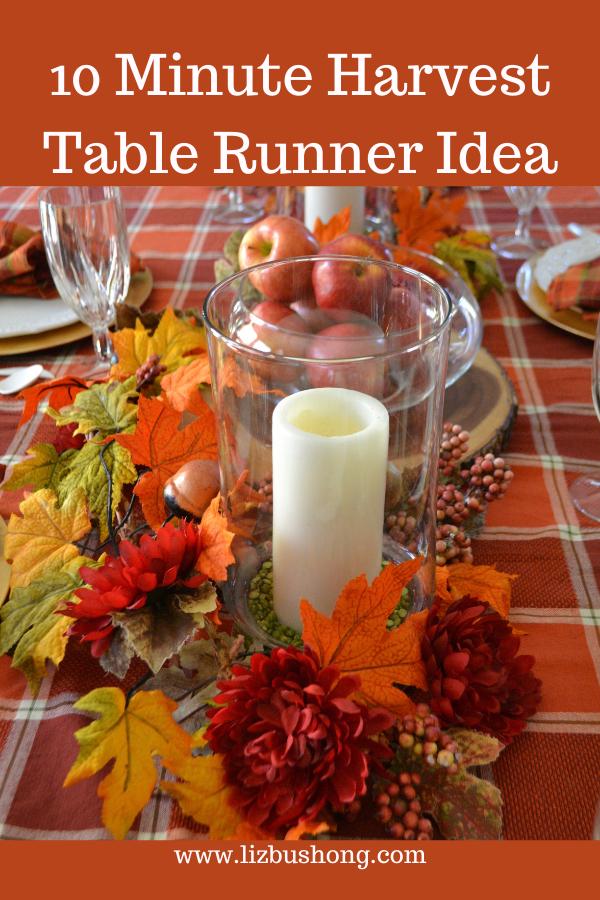 10 Minutes to make a Harvest Table Runner lizbushong.com