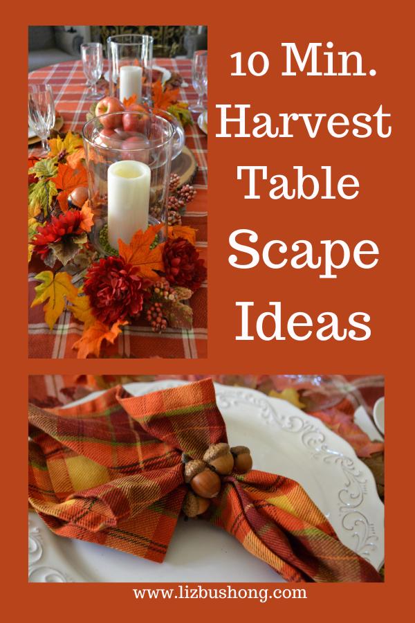 10 Minutes to Make a Harvest Table Runner Scape lizbushong.com
