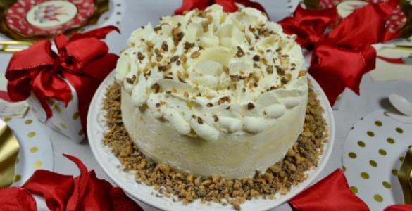 Christmas Brickle Angel food Cake- Gnome Setting lizbushong.com