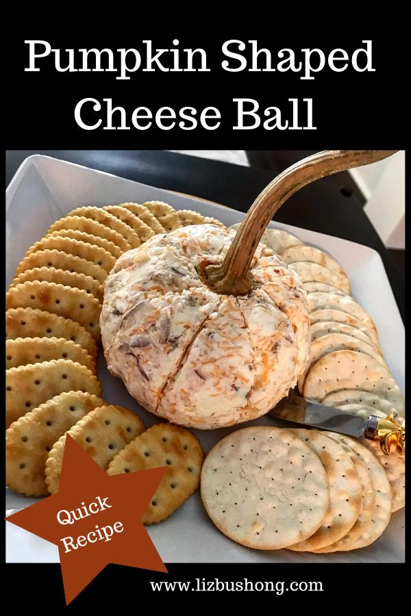 Pumpkin Cheese Ball Recipe lizbushong.com