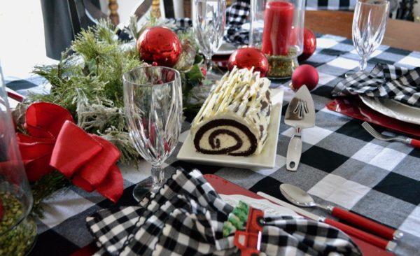 Birch Bark Chocolate Raspberry Yule Log lizbushong.com