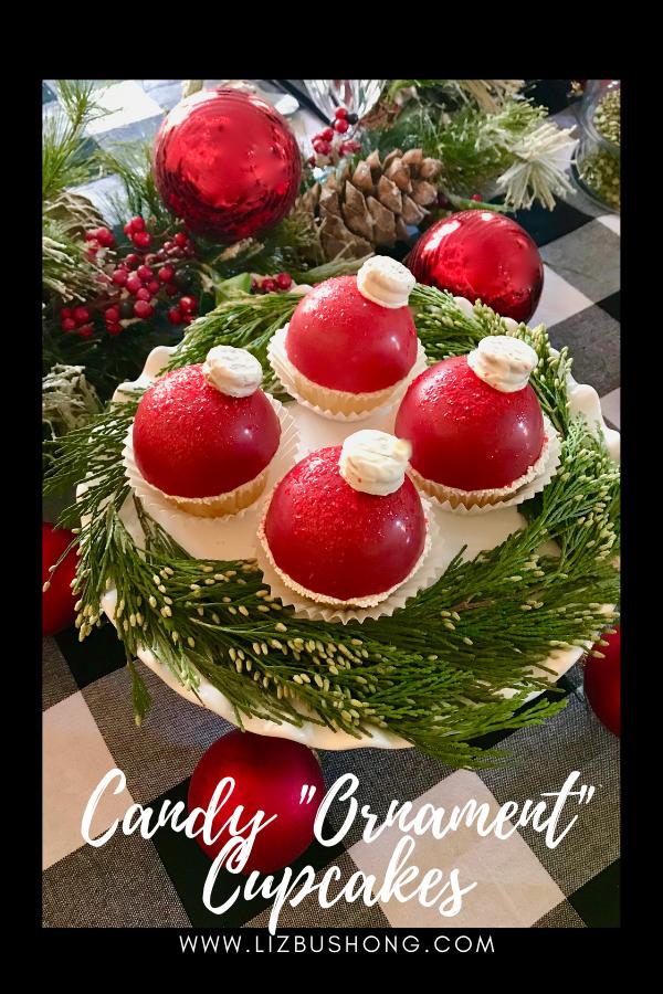 Candy Ornament Cupcake Wreath lizbushong.com