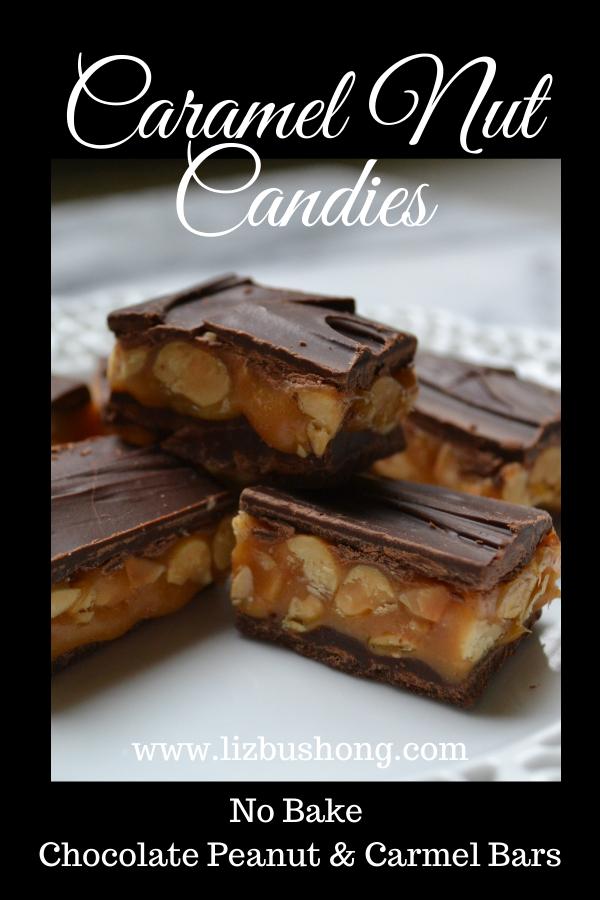 Chocolate Caramel Peanut Bars lizbushong.com