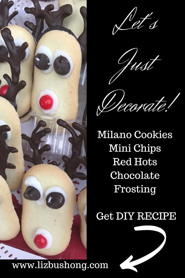 Lets Decorate reindeer Milano cookies lizbushong.com