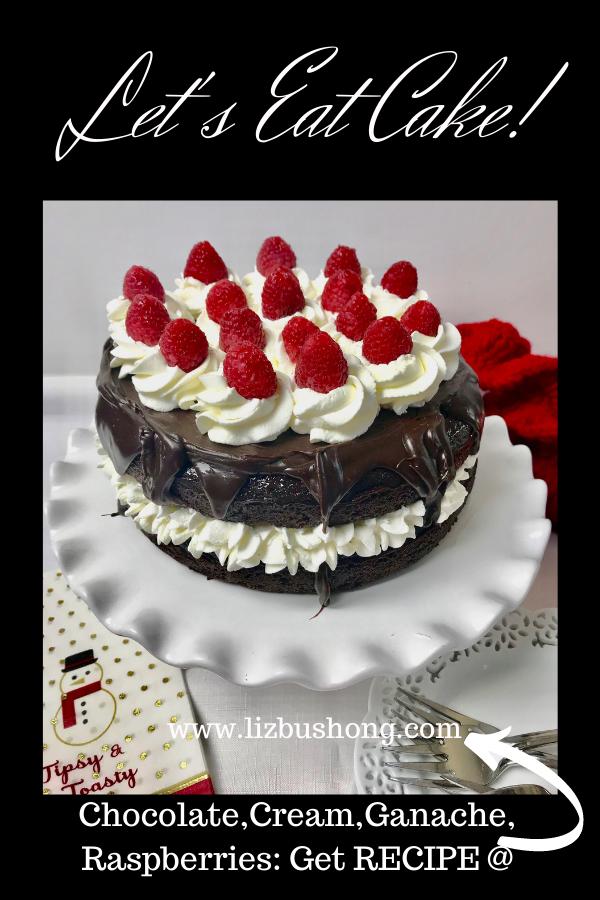 How to Make Chocolate Cream Cake with ganache lizbushong.com