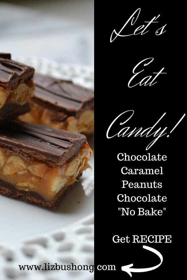 How to make Chocolate Caramel Peanut Bars lIzbushong.com