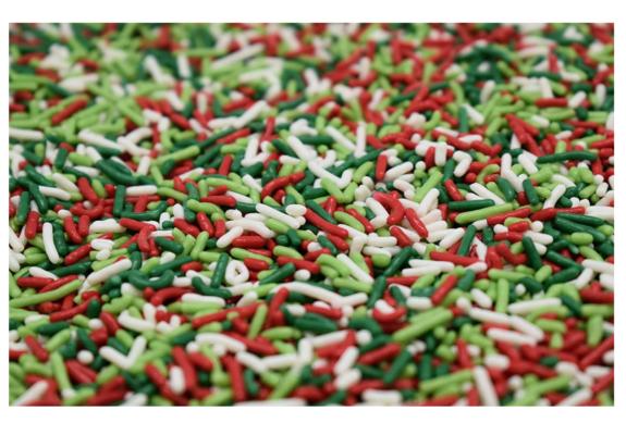 Mistletoe magic sprinkles for popcorn li
