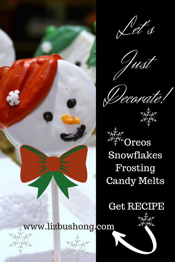 Oreo Snowmen Cookie Pops lizbushong.com