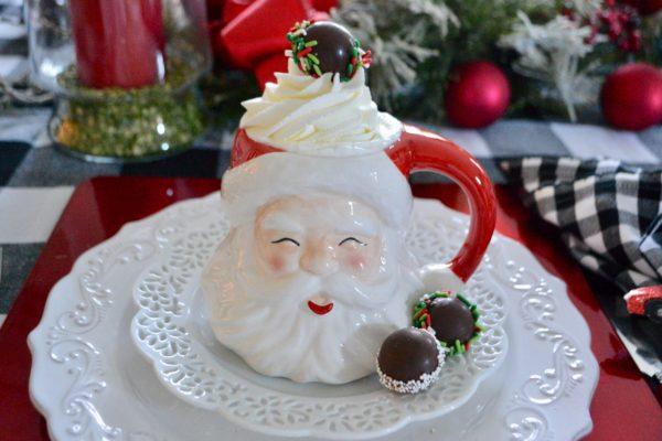 Santa Mug Mug of Hot Chocolate lizbushong.com