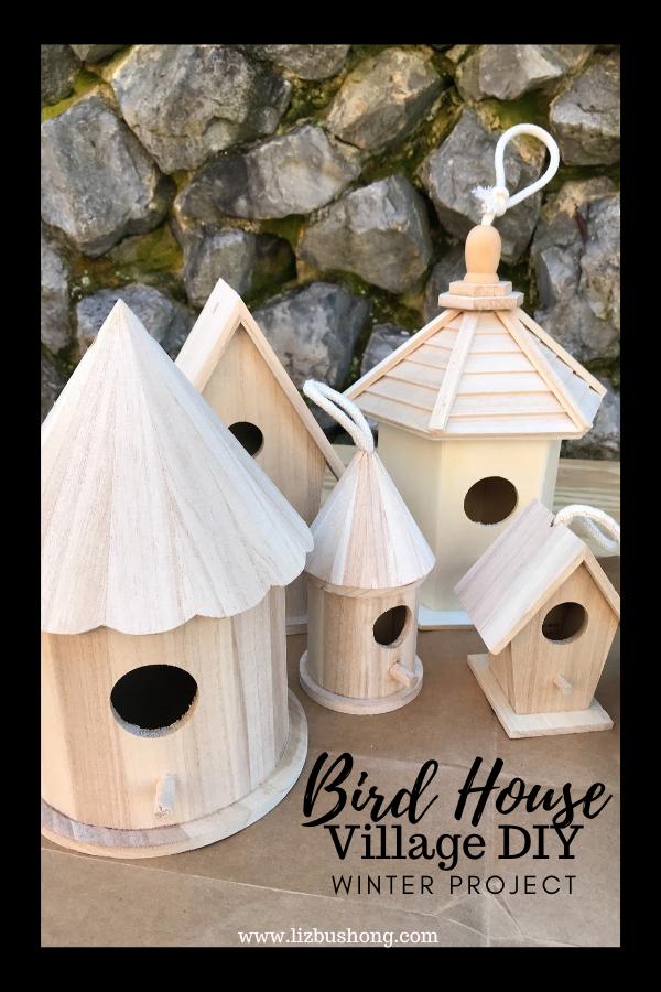 Bird house winter project materials lizbushong.com