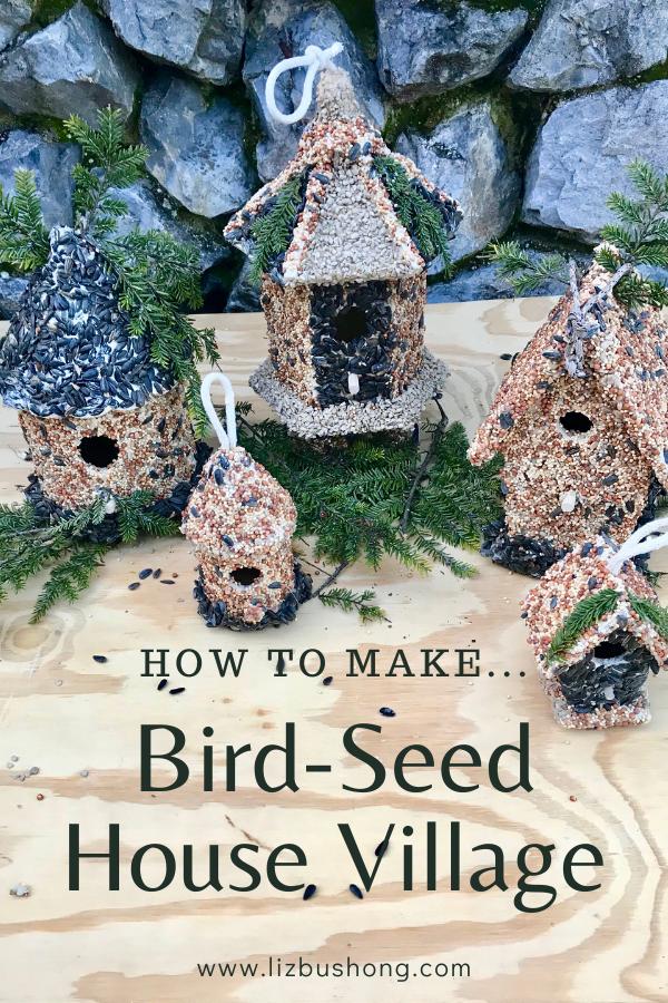 How to Make a Bird Seed House Village, lizbushong.com