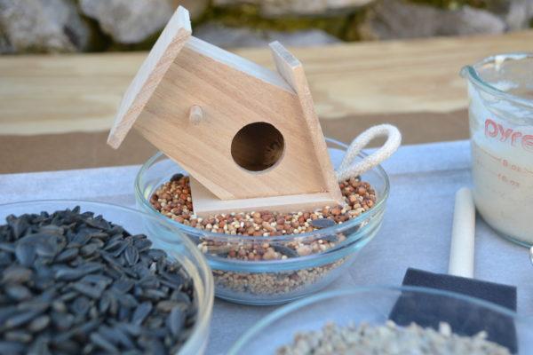 Bird Seed Small House attaching seeds lizbushong.com