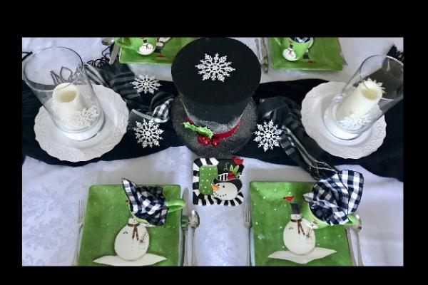 How to set a Snowman Table Setting  lizbushong.com