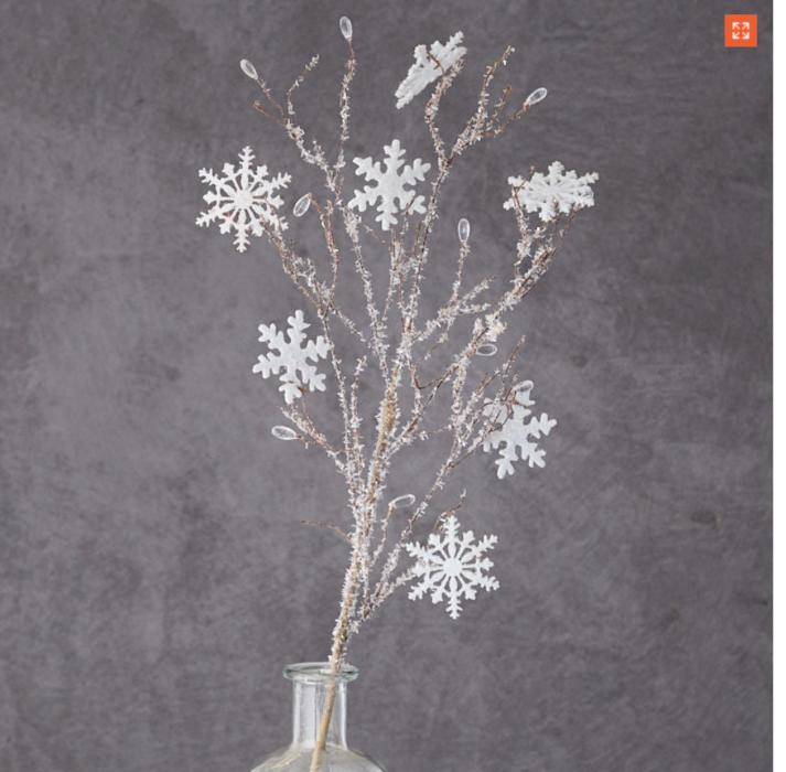 White Sticks with Snowflakes lizbushong.com
