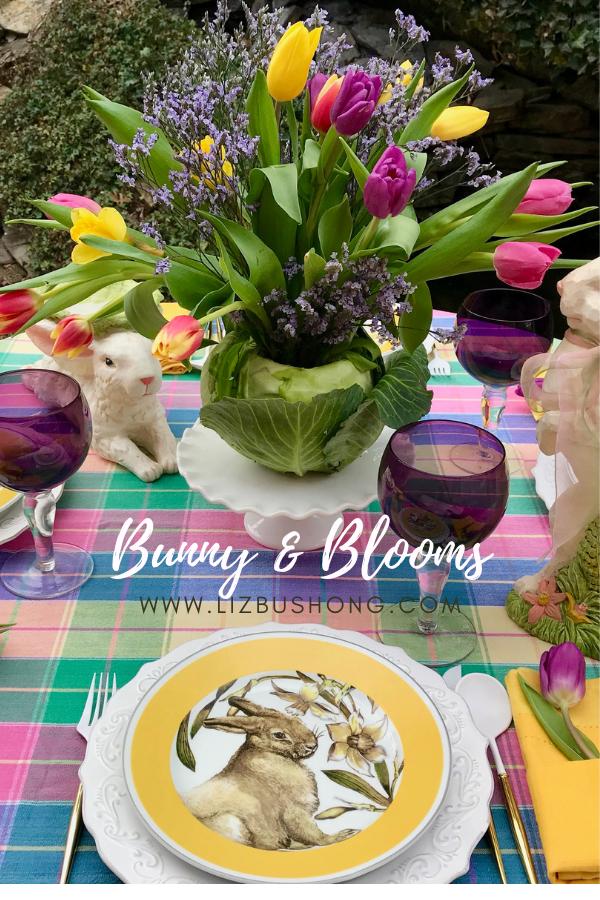 Bunnies & Blooms Cabbage Vase lizbushong.com