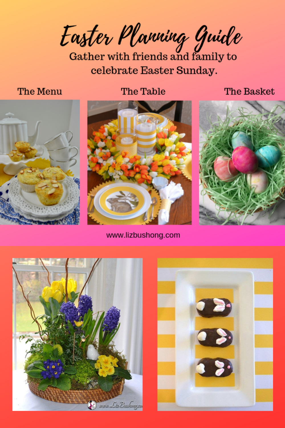 Easter Brunch -Dinner Planning Guide Lizbushong.com