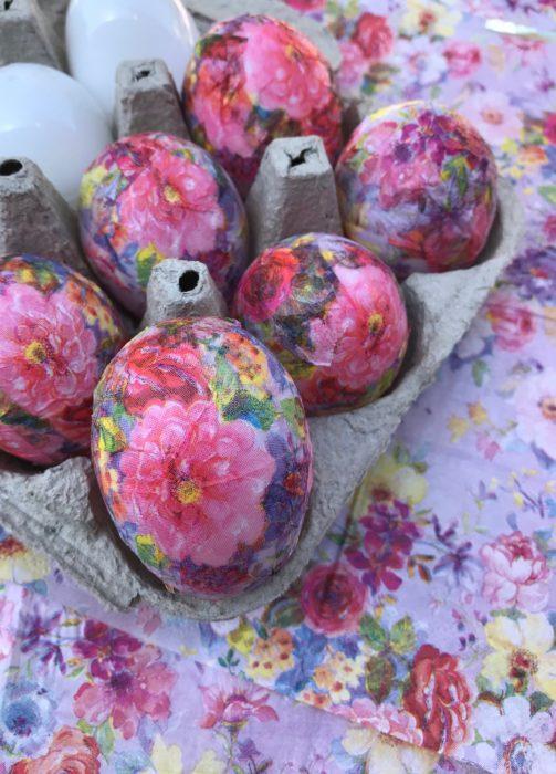 How to Make Floral Decoupage Eggs lizbushong.com