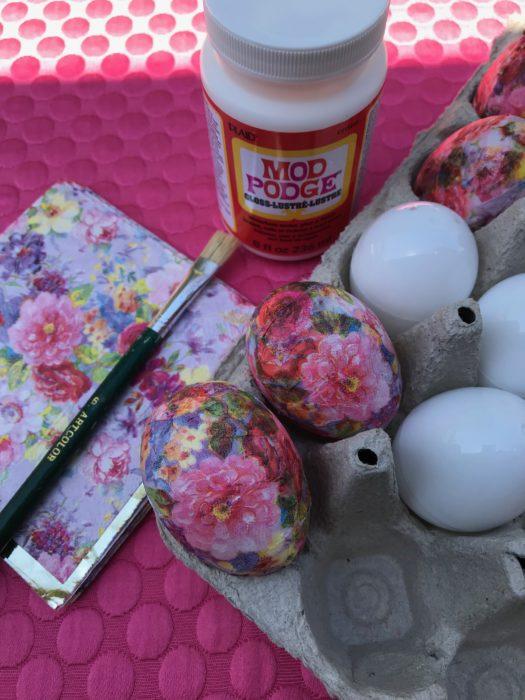 How to Make Decoupage Eggs, lizbushong.com