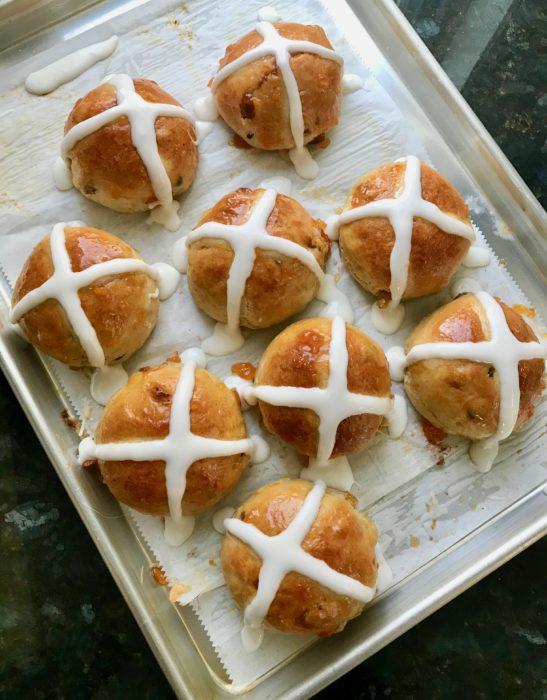 Making Hot Cross Buns lizbushong.com