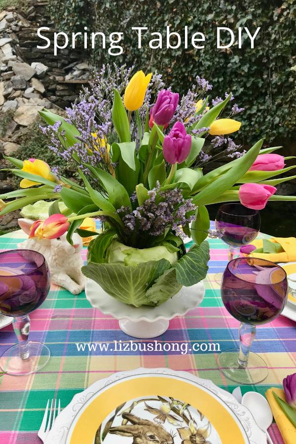how to make Spring Cabbage Arrangement lizbushong.com