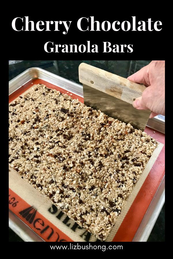 Cherry Chocolate Granola Bars Ingredients lizbushong.com