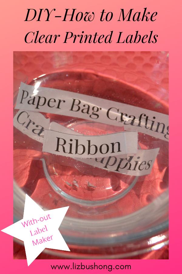 DIY packing tape labels 1 lizbushong.com
