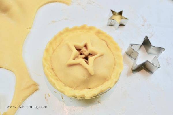 Mini Apple Pie Recipe Dough Cut outs lizbushong.com
