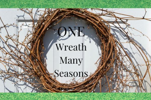 How to use one wreath for many seasons, diy lizbushong.com