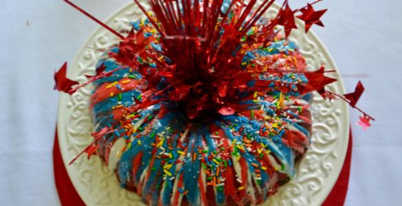 How to make fire works bundt cake lizbushong.com