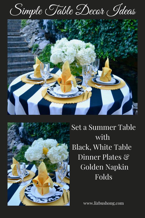 How to Set Black White Golden table Scape lizbushong.com