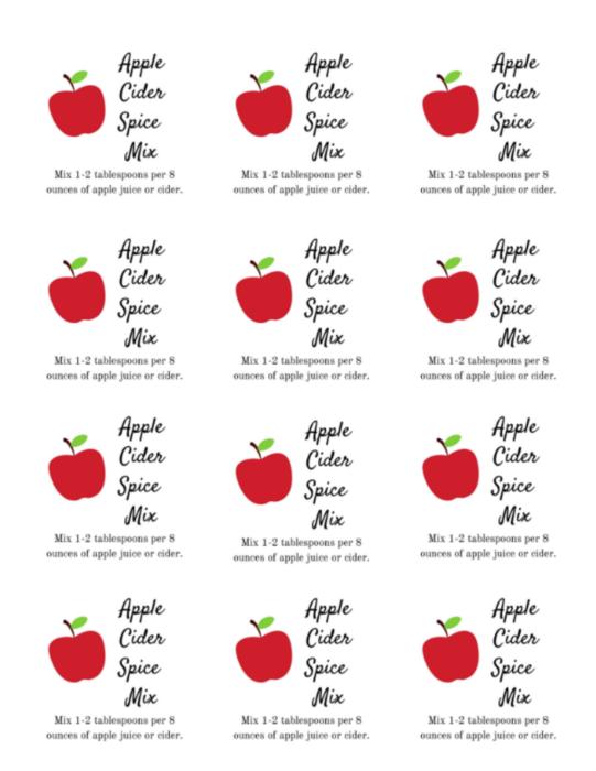 Apple Cider labels lizbushong.com