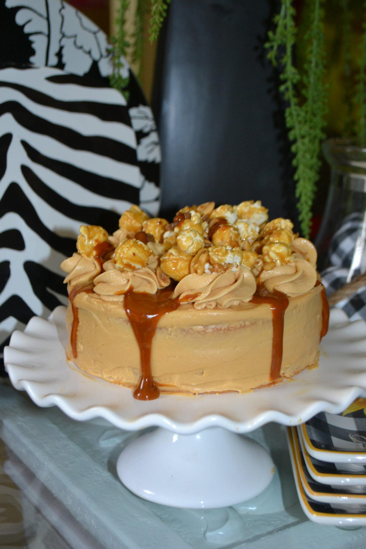 How to make salted caramel popcorn cake lizbushong.com