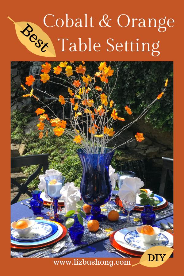 How to Set Cobalt Blue and orange Table lizbushong.com