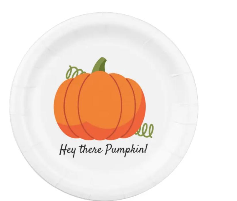 Product hey there pumpkin paper plates lizbushong.com
